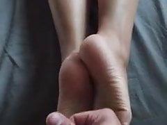 Sexy footjob i wytryski