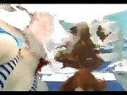 lekker geilen in het zwembad