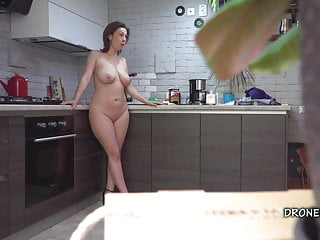 Softcore Czech Milf video: Czech MILF Gadget- Hidden spy cam in the kitchen