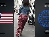 very hot jiggle booty walking in street USA