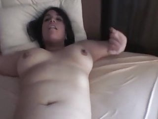 Hairy Facials video: Latina with big titties and hairy pussy facial
