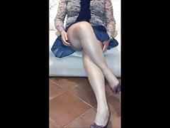 Meine sexy Schlampe Frau in Strümpfen