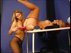 Lesbijki sekretarki w rajstopach