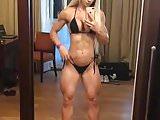 Beautiful muscle goddess