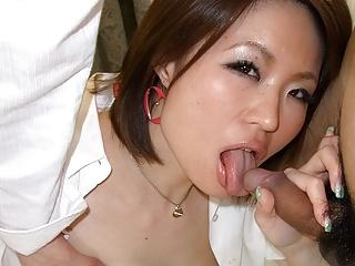 Slutty chick, Miki Uemura is often cheating on her boyfriend