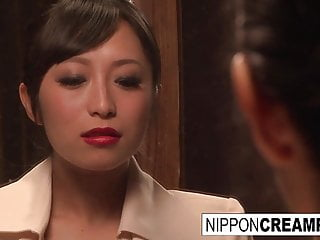 Asian Japanese Creampie video: Business dinner meeting turns scandalous when a threeway