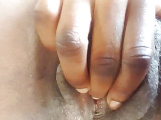 Teen Pussy African video: Black cunt rubbing herself