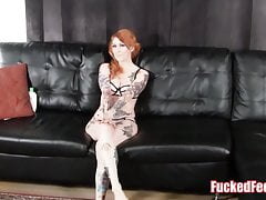 Hot Red Head Daje Footjob Under Christmas Tree FuckedFeet