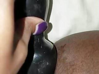 Amateur Sex Toys xxx: Ebony Anal Plug