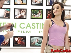 Vero amatore hardfucked a casting couch