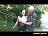 cute teen getting fucked from grandpa in public