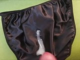 Thick Load on Satin Panties