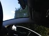 desnuda en el coche