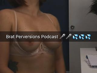 Amateur Babes video: Brat Perversions Podcast's BTS