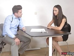 Interrogated beauty pussyfucked by a cop
