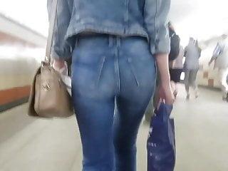 Brunettes Closeups Hidden Cams video: Sexy ass in tight jeans