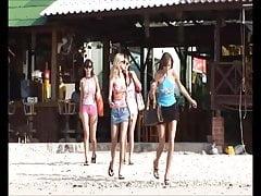 Quatre filles ukrainiennes en vacances