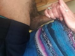 Gilf milf żona Jan hand job