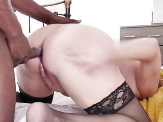 Cuckold Blonde Blowjob video: White Mom Seduces Younger Black Man into Bed. Lustful Mature