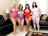 Four BIG ASS Lesbian Orgy