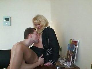 Blowjob Big Cock Handjob video: Mature Teacher Seduces and Fucks Her New Lucky Student