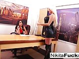 Nikita's lesbian office fuck