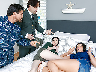 Teens Hardcore Brunettes video: DaughterSwap - Military Dads Swap and Fuck Daughters