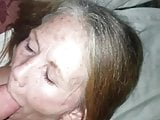 60 year old whore takes facial