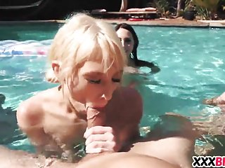 Best Friends Having A Pool Party