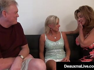 Big Tits Threesome Milf video: Wicked Wife Deauxma & Horny Husband Fuck Milf Payton Hall!