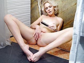 Masturbation Russian Showers video: Mature blonde masturbating in the shower