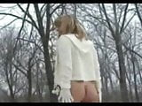 Mom strip nude in the snow