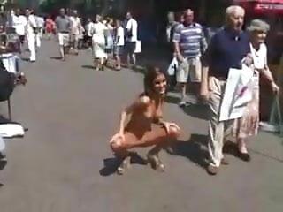 Nella nude in public