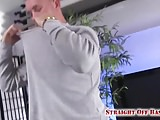Marine Easton covers his fist in cum.