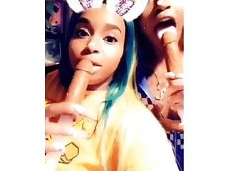 Blowjob Hd Videos video: Queen Envi with girlfriend long nails