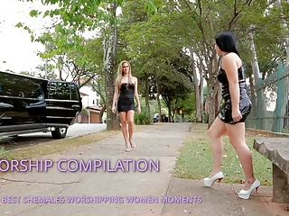 Stockings Shemale Shemale Fucks Girl Shemale porno: SHEMALE WORSHIPPING WOMEN COMPILATION