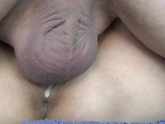 Nahaufnahme Creampie in ihrer Muschi