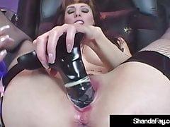 Hot Horny Housewife Shanda Fay Dildo Fucks In Latex Lingerie