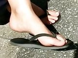 Candid feet --- Spanish hot toes