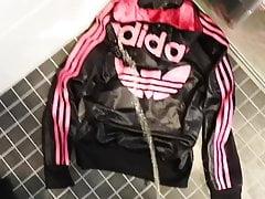 Pissing On Hot Adidas Jacket