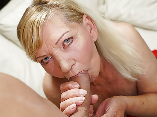 Blonde Blowjob Big Tits video: Blonde GILF in need of some stud action