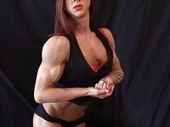 Dancer Flexing Torn Muscles