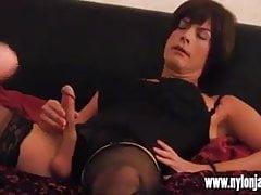 Cornea Milf fotografo fa sperma TGirl slut con sega calda