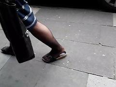 nylonové granny nohy a nohy (+ zpomalený pohyb)