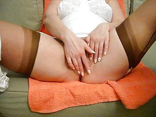 Stockings Mature video: Pushuns full bodygirdle (shot)