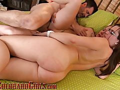 Teen PAWG Fucked I Creampied In First Hardcore Threesome