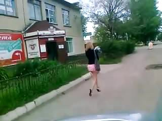 Upskirts Hidden Cams xxx: Girl in extremly short skirt in the street