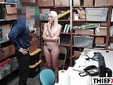 Hot Blonde Cutie Thief Gets Banged