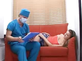.horny doctor perverted treatment with teen.
