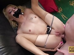 PASCALSSUBSLUTS - Blonde sub April Paisley follada analmente